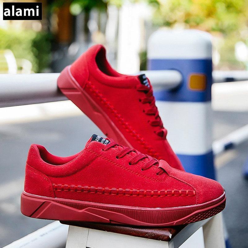 Giày Sneaker Thời Trang Nam Alami GTT37 ( Đỏ)