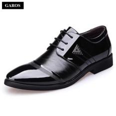 Giày tây công sở nam đế cao dây buộc Garos GM8523