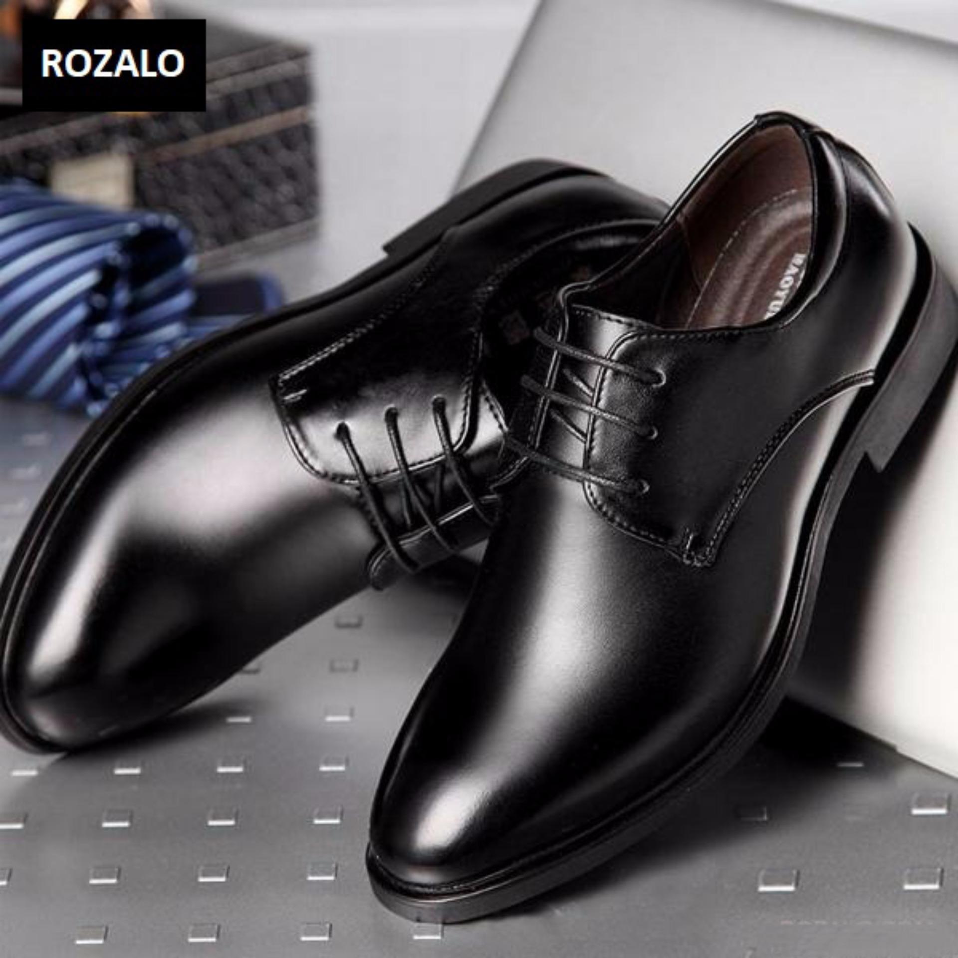 Giày tây nam Rozalo RMG3613B-Đen