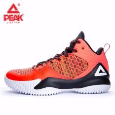 Giày thể thao bóng rổ nam Peak Streetball Master E73421A – Đỏ Cam