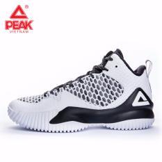 Giày thể thao bóng rổ nam Peak Streetball Master E73421A – Trắng