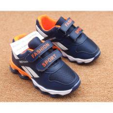 Giày thể thao cho bé – Size 26 đến 33 – Fashion sport – navi lót cam