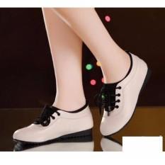 Giày thể thao -giày lười nữ êm chân – Kem