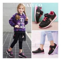 Giày thể thao Hồng Kông cho bé gái đế chống trượt, thoáng khí ( mầu đen)