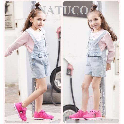Giày thể thao Hồng Kông cho bé gái đế chống trượt, thoáng khí ( mầu hồng đỏ)