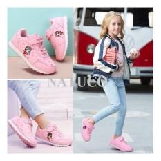 Giày thể thao Hồng Kông cho bé gái đế chống trượt, thoáng khí ( mầu hồng phấn)
