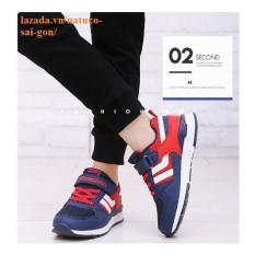 Giày thể thao Hồng Kông cho bé trai đế chống trượt, thoáng khí ( mầu xanh lam đậm)