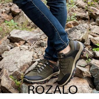 Giày thể thao nam da lộn Rozalo RM6902XR - Xanh Rêu - 3