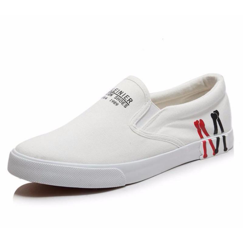 Giày thể thao nam họa tiết M nhập khẩu OCCO GLN030 (Đen đế đen)