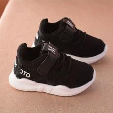 Giày thể thao siêu nhẹ cho bé – Size 15 đến 30 – chữ M – đen