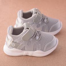Giày thể thao siêu nhẹ cho bé (có ảnh thật) – Size 15 đến 30 – chữ M – xám
