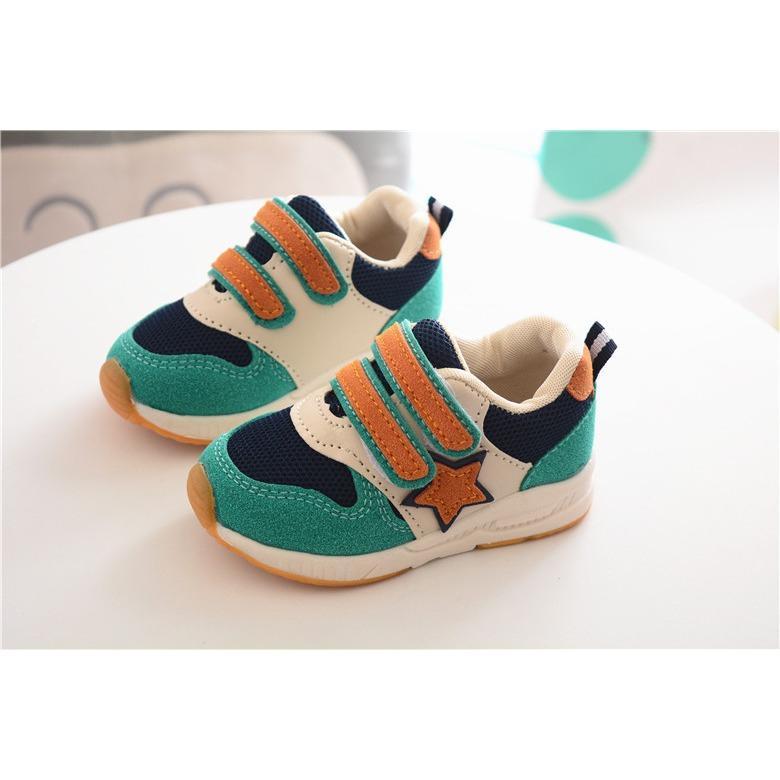 Giày thể thao siêu nhẹ cho bé – Size 21 đến 30 – 1 ngôi sao – xanh