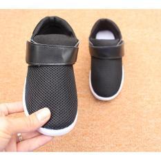 Giày thể thao siêu nhẹ cho bé – Size 21 đến 30- chữ Z2 trơn – đen