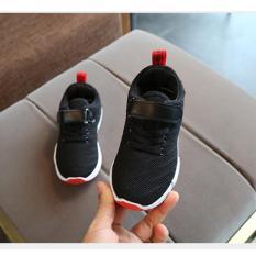 Giày thể thao siêu nhẹ cho bé-đen/trắng/hồng(kèm video, ảnh thật) – Size 26 đến 37 – V57