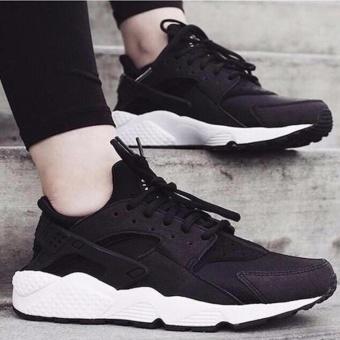 Giày thể thao sneaker cho nam và nữ đế êm, thoáng khí - HAPLI (đen đế trắng) - 2