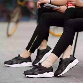 Giày thể thao sneaker cho nam và nữ đế êm, thoáng khí - HAPLI (đen đế trắng) - 4