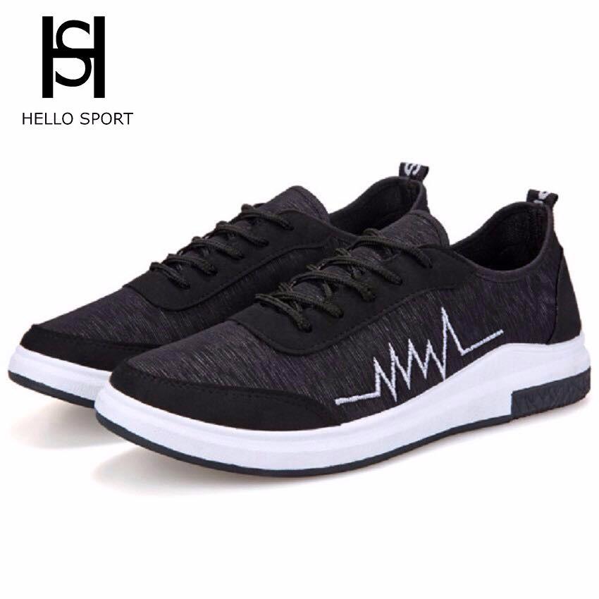 Giày Sneakers Nhịp Tim HS 07 Đen