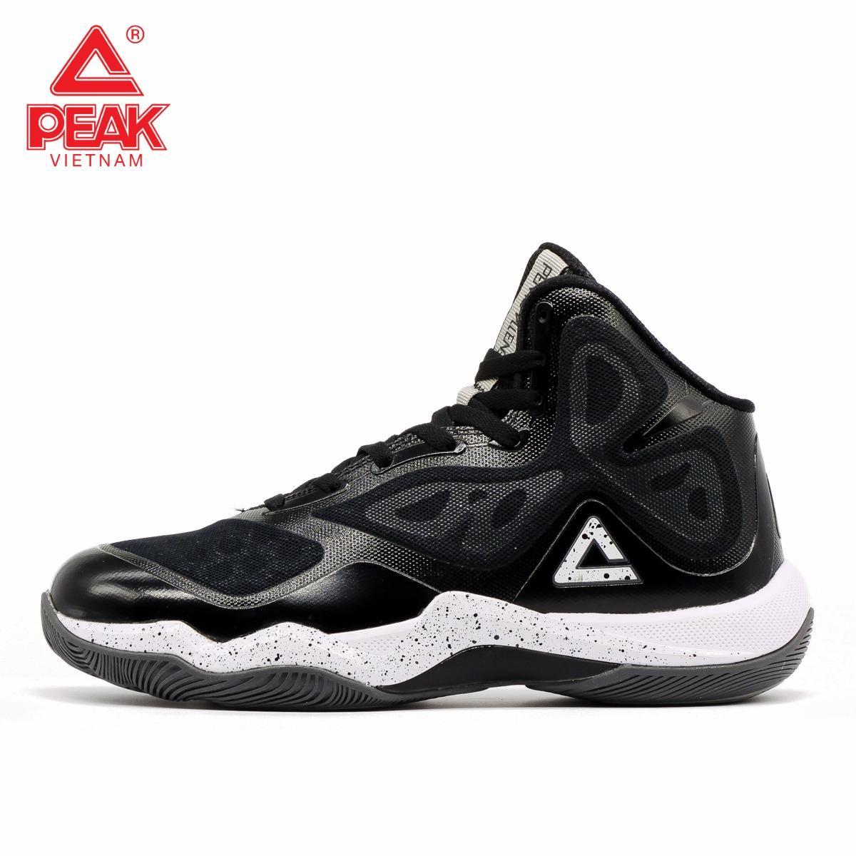 Giày thời trang bóng rổ nam Peak Challanger 2.4 E63001A – Đen Trắng