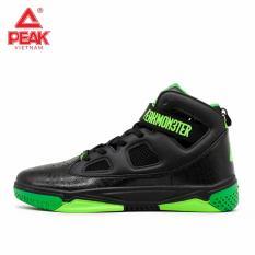 Giày thời trang bóng rổ nam Peak Monster IV E52061A – Đen Xanh