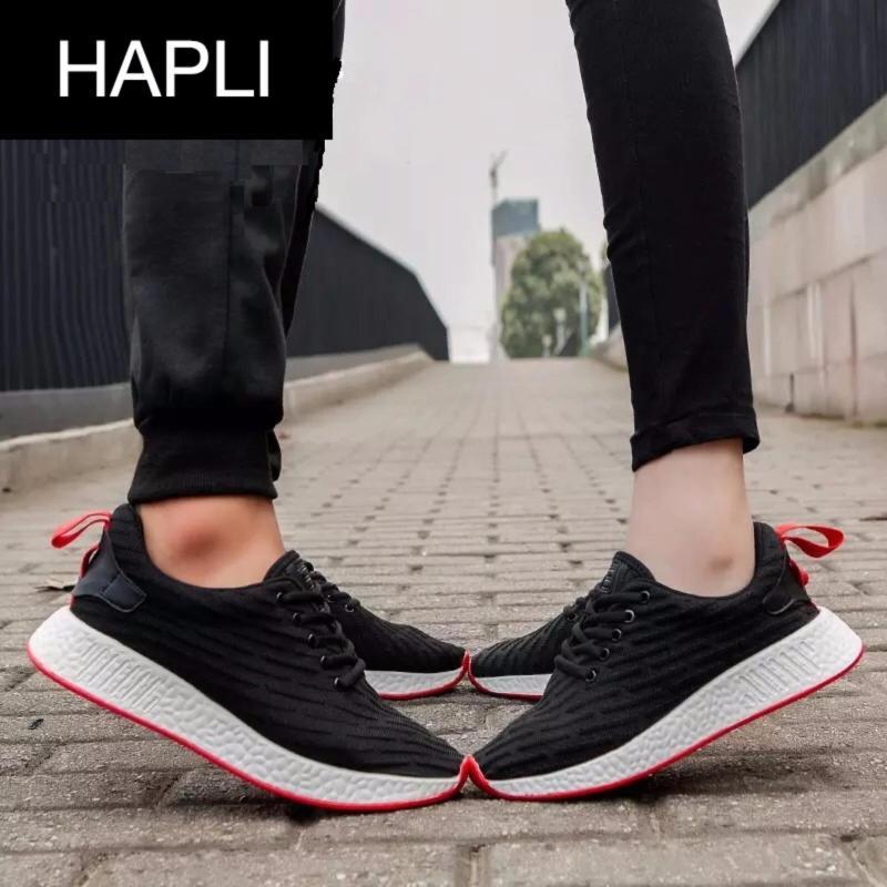 Giày thời trang nam nữ NewNMD1 - HAPLI (đen vạch đỏ)