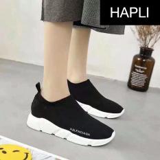 Giày thời trang nữ cổ chun – HAPLI – TBLthap1 (đen)