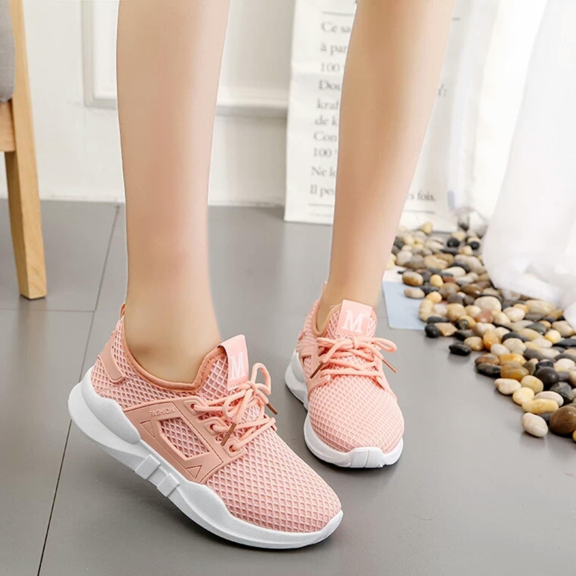... Giày thời trang nữ Fashion M lưới - GiayKS - MLuoi001 (hồng cam) ...
