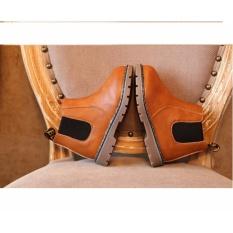 Giày trẻ em boot chelsea cổ ngắn V2 SC044 (Nâu)