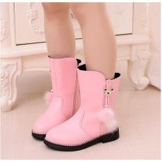 Giày trẻ em boot ống tua rua lông SC015 (Hồng)