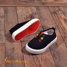 Giày trẻ em đế thể thao giày lười trẻ em đế nhẹ GLG043-Black