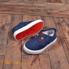 Giày trẻ em giày vải trẻ em đế nhẹ chống trượt GLG043-Darkblue