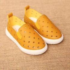 Giày trẻ em, giày có lỗ thoáng chân cho bé size 21->30 RS074 (Vàng)