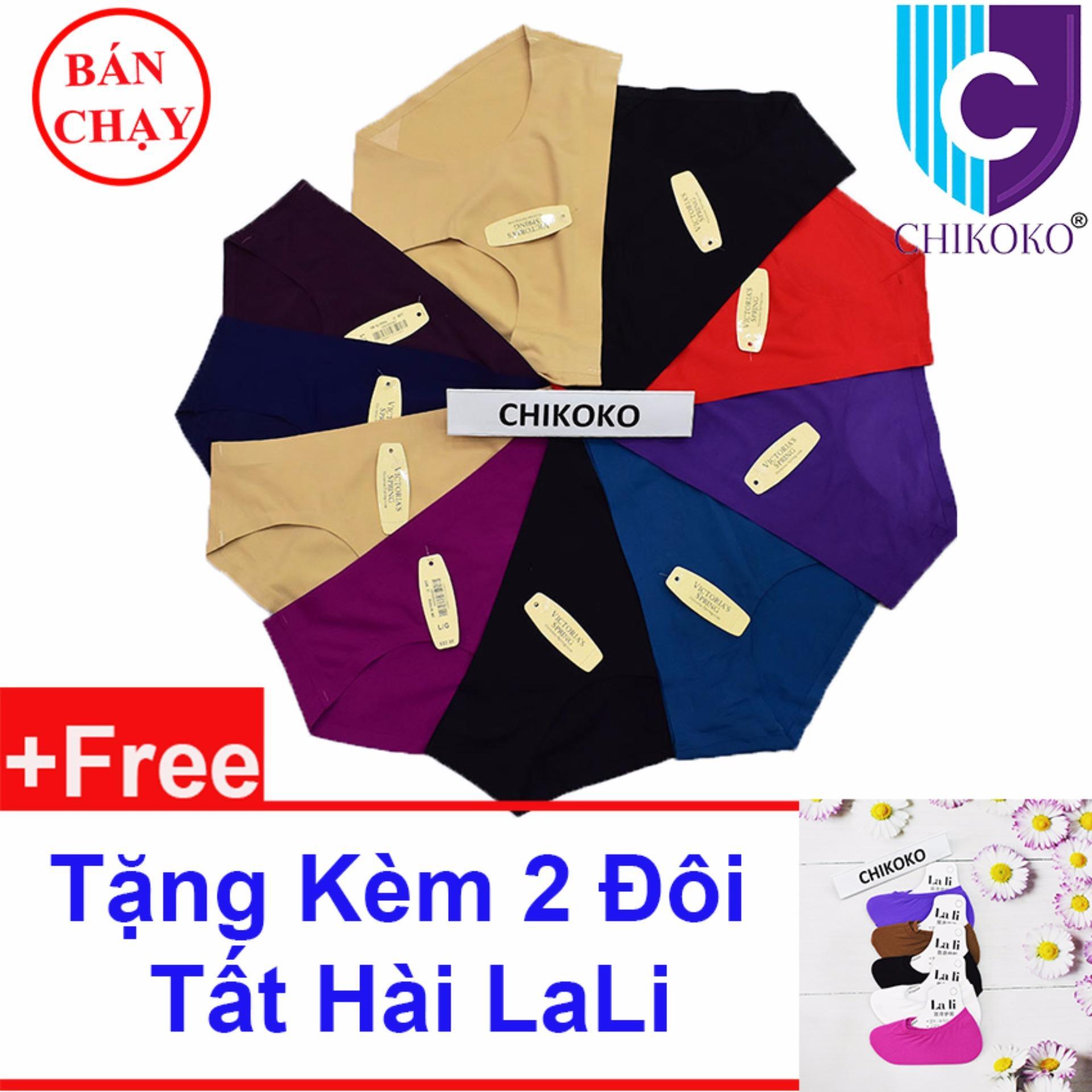 (Gift)Bộ 10 quần lót đúc ép lạnh có size cho người béo CHIKOKO +Tặng 2 Tất hài Lali