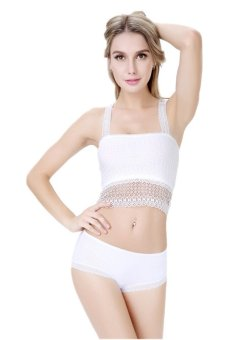 Giá Niêm Yết Hang-Qiao Women Bottoming Underwear Lace Chest Wrap (White) – intl  HangQiao