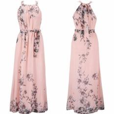 Hibay Nữ Thời Trang Họa Tiết Hoa Đầm Đầm Maxi Trơn Trượt Đầm Plus Sizepink Màu-quốc tế