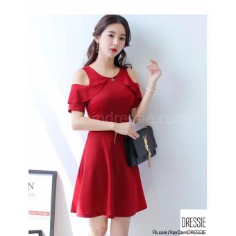 [HÌNH THẬT] Váy Đầm Xòe Chữ A Nữ Đẹp DRESSIE - DX1046B (Đỏ) - Hàng Chính Hãng - 5