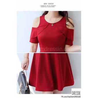 [HÌNH THẬT] Váy Đầm Xòe Chữ A Nữ Đẹp DRESSIE - DX1046B (Đỏ) - Hàng Chính Hãng - 3