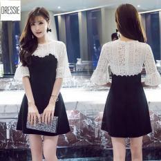 [HÌNH THẬT] Váy Đầm Dự Tiệc Cưới Sang Trọng Đẹp Sexy DRESSIE – DX0165 (Đen Trắng)