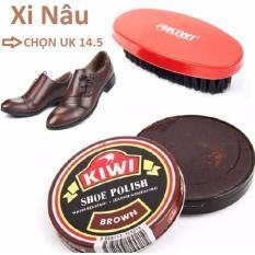 Hộp Xi Đánh Giày Kiwi + Bàn Chải ( Xi Nâu )