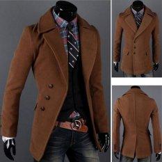 Bảng Giá JoIn Men Single-breasted Luxury Wide-lapel Winter Coat Jacket Overcoat Jacket 2 Colors 4 Sizes (Coffee) – intl