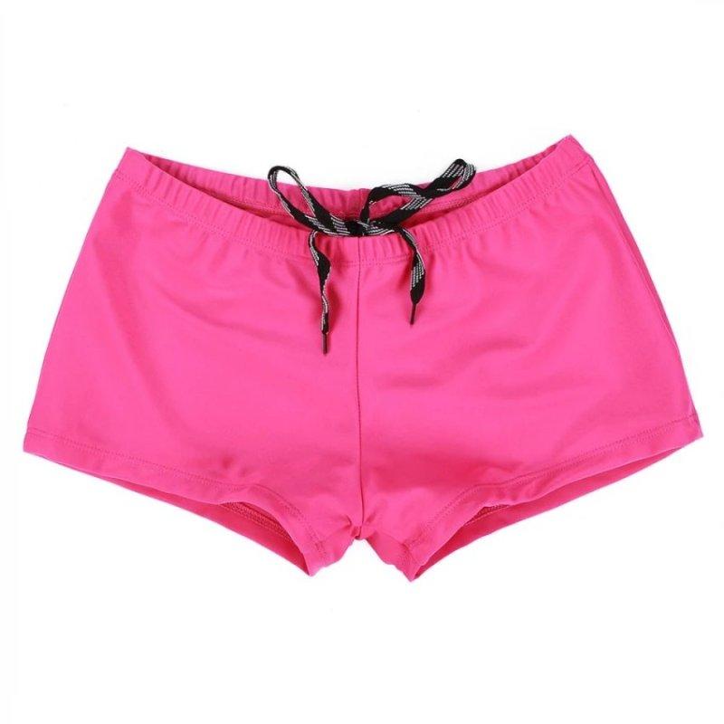 Nơi bán JOOX (Swimwear)New Women Shorts Plain Bikini Swim Swimwear Lady Boy Style Short Brief Bottoms Rose Red - intl