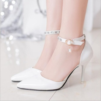 JOY Korea Korean fashion PU Cusp high-heeled shoes White - intl - 8440296 , OE680FAAA4SCMWVNAMZ-8817393 , 224_OE680FAAA4SCMWVNAMZ-8817393 , 730000 , JOY-Korea-Korean-fashion-PU-Cusp-high-heeled-shoes-White-intl-224_OE680FAAA4SCMWVNAMZ-8817393 , lazada.vn , JOY Korea Korean fashion PU Cusp high-heeled shoes White -