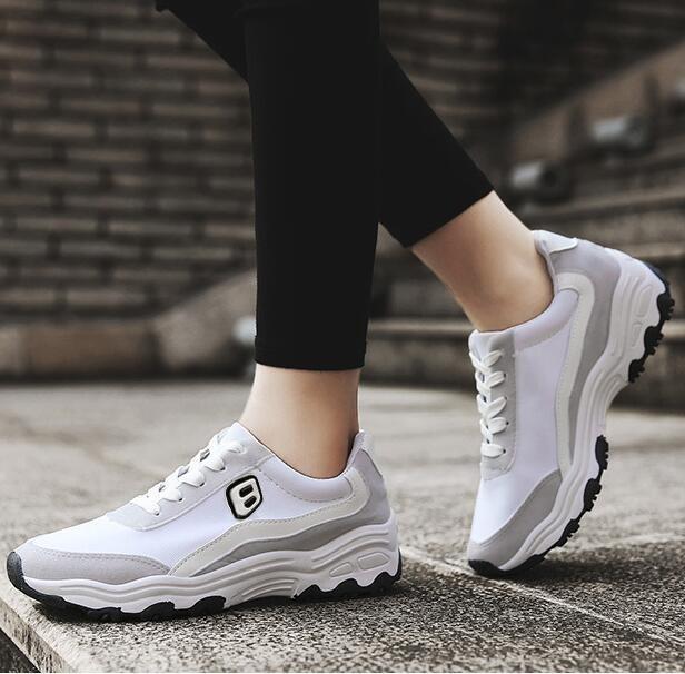 Hình ảnh JOY Korean casual breathable sports shoes White - intl
