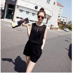 Jumpsuit giọt nước ngắn năng động Misa Fashion MS190 / Đen