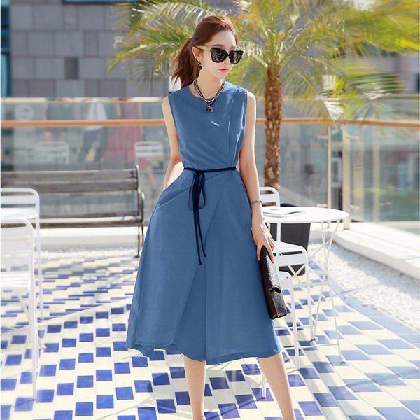 Jumpsuit quần váy Misa Fashion MS255 / Xanh