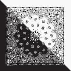 Khăn Bandana (Khăn Turban EXO) Màu Trắng Đen – Mã B011 55 x 55 / den,white