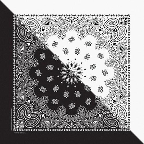 Khăn Bandana (Khăn Turban EXO) Màu Trắng Đen - Mã B011 55 x 55 / den,white