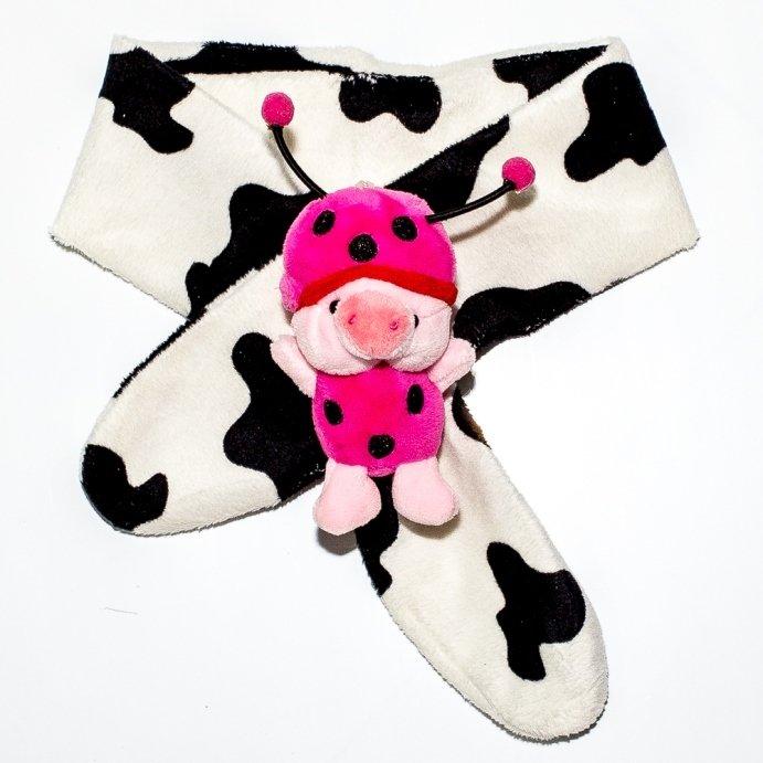Khăn choàng cao cấp cho trẻ từ 0-10 tuổi – Mushroom Lee – (Hoa văn trắng bò sữa)