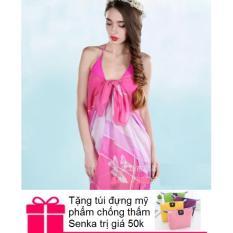 Khăn choàng / sarong đi biển + Túi đựng mỹ phẩm