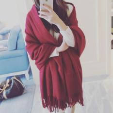 khăn choàng nữ lông cừu cao cấp (Đỏ đun)