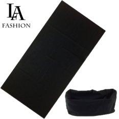 Khăn đa năng nữ thể thao dành cho phượt thủ – Chất liệu sợi siêu mịn polyester – Kích thước 25×48 cm ZAVANS (Đen)